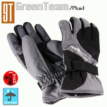 GT保溫科技 防水防寒柔軟手套(格紋/黑)L