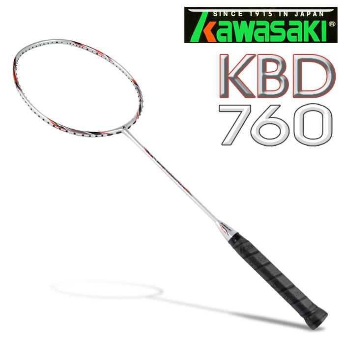 Kawasaki KBD760 碳纖維超輕羽球拍 (紅)