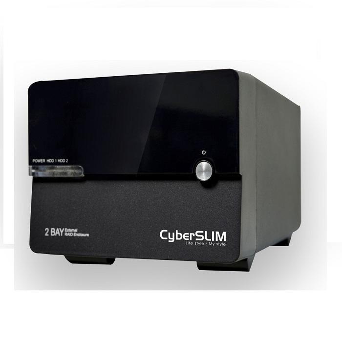CyberSLIM S82M-U3R 6G 3.5吋雙層磁碟陣列外接盒