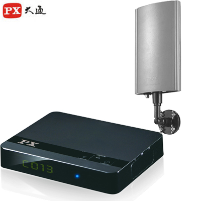 【PX大通】HDTV極致教主高畫質數位機上盒+專用室外天線 HD-3000+HDA5000