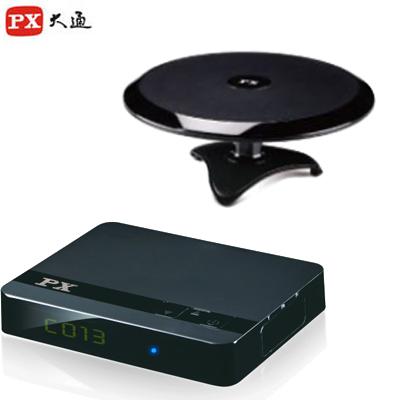 【PX大通】HDTV極致教主高畫質數位機上盒+高畫質室內萬向天線 HD-3000+HDA6200