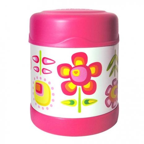 THERMOS膳魔師0.3L小花兒不鏽鋼真空食物罐F3001FFP6