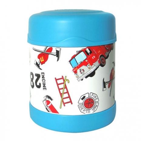 THERMOS膳魔師0.3L消防車不鏽鋼真空食物罐F3001HRB6