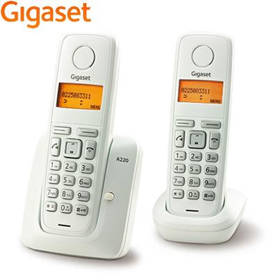 德國Gigaset數位子母型無線電話機(白色) A220DUO