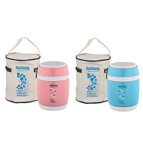 日本Dashiang大相 380ml真水保溫食物罐 附提袋 DS-SC-380粉紅