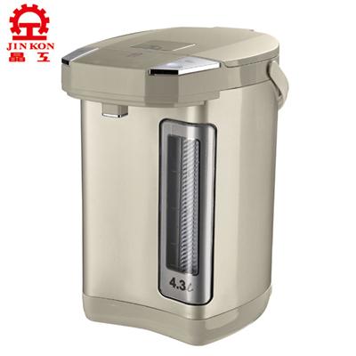 晶工牌4.3L無蒸氣電動給水熱水瓶 JK-8643