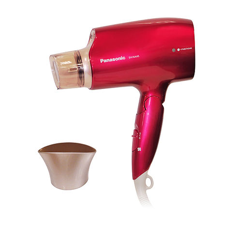 Panasonic國際牌白金水離子吹風機EH-NA45★加贈專用烘髮罩紅色