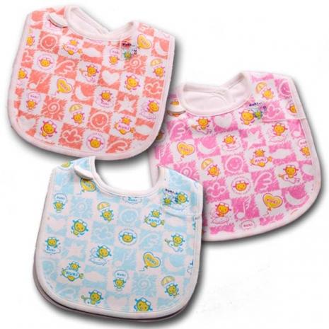 魔法Baby ~台灣製造KUKI酷奇柔軟嬰兒圍兜~嬰兒用品~k21007藍