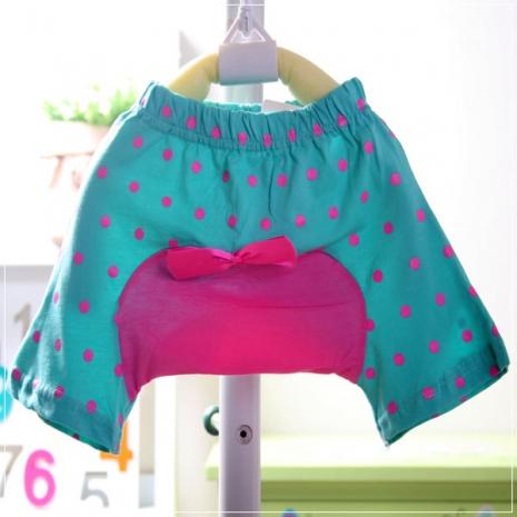 魔法Baby ~小喇叭蝴蝶結短褲(天空藍)~童裝~女童裝~時尚設計童裝~k19872