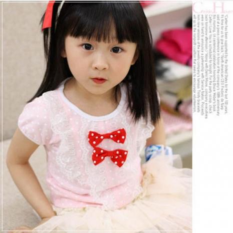 魔法Baby ~甜美系公主裝雙蝴蝶結上衣~童裝~女童裝~時尚設計童裝~k20182110