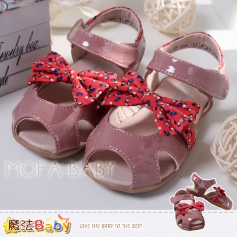 魔法Baby~【KUKI酷奇】繽紛點點蝴蝶結涼鞋/寶寶鞋/女童鞋~sh253222