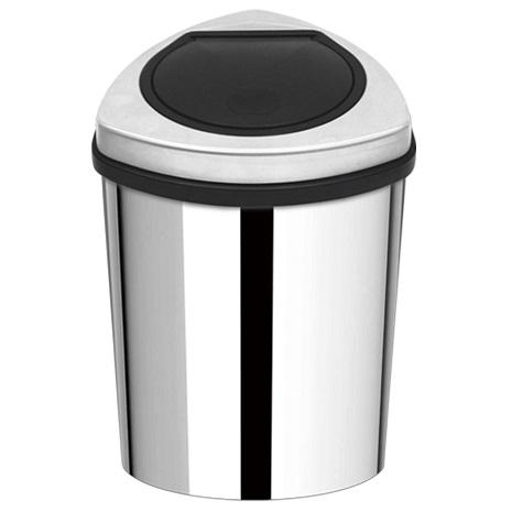 家簡塵除-金盾形不鏽鋼手動油壓式垃圾桶(12L)