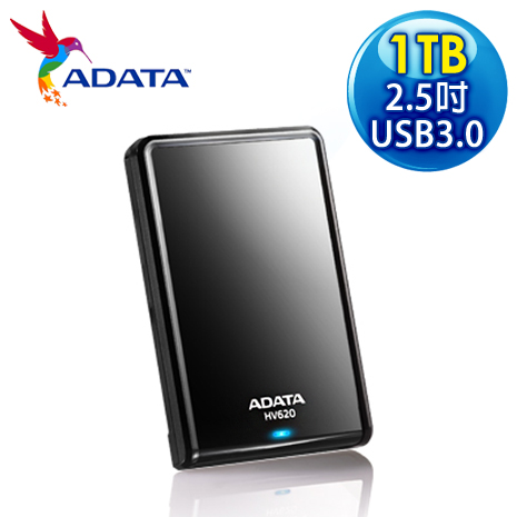 ADATA 威剛 HV620 1TB USB3.0 2.5吋行動硬碟《黑色》-3C電腦週邊-myfone購物