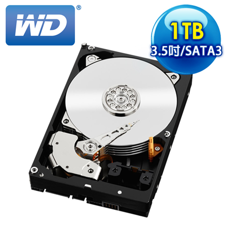 WD威騰 Black 1TB 3.5吋 7200轉 64M快取 SATA3黑標硬碟(WD1003FZEX)