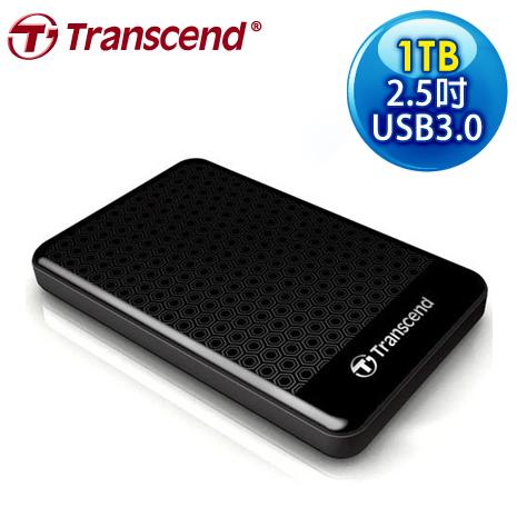 Transcend 創見 SJ25A3K 1TB USB3.0 2.5吋 防震外接硬碟
