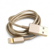 Lightning to USB 1M ios7 ready 金色傳輸線