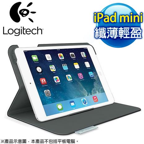 羅技 iPad mini 超薄折疊保護套《經典黑》-手機平板配件-myfone購物
