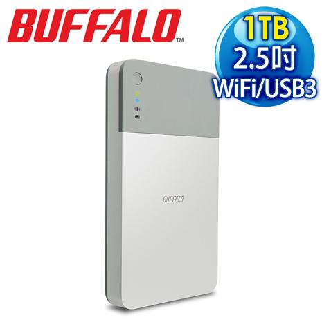 BUFFALO 巴比祿 PDU 1TB WiFi USB 3.0 2.5吋外接式硬碟