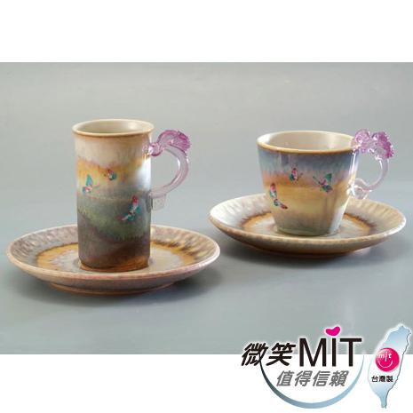 【微笑MIT】 存仁堂/存仁堂藝瓷-山水蝴蝶對杯