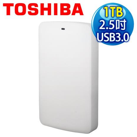 Toshiba 東芝 Basic 白靚潮 II 1TB USB3.0 2.5吋行動硬碟