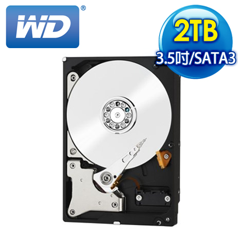 WD威騰 Red 2TB 3.5吋 SATA3紅標硬碟(WD20EFRX)(加購)