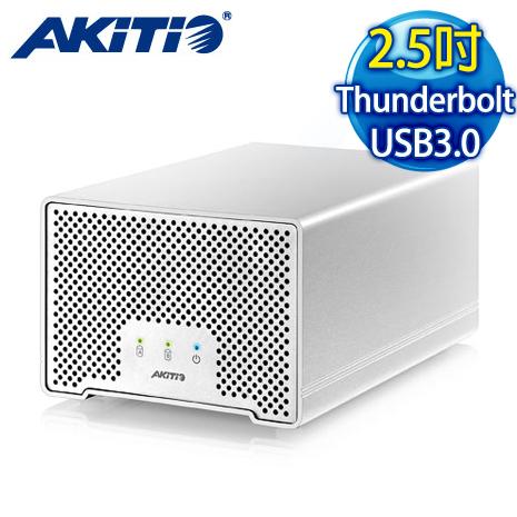 AKiTiO 艾客優品 迷你雷霆金牛座D3 Thunderbolt/USB3.0 2.5吋外接盒