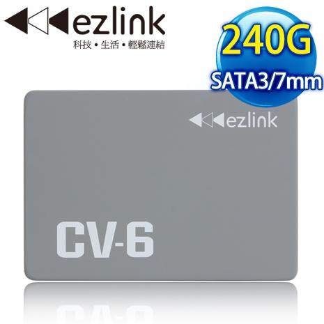 EZLINK CV-6 240G 2.5吋 SATA3 SSD固態硬碟