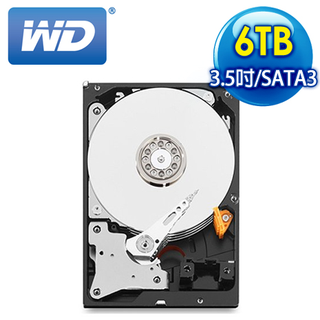WD威騰 Purple 6TB 3.5吋 5400轉 64M快取 SATA3紫標硬碟(WD60PURX)