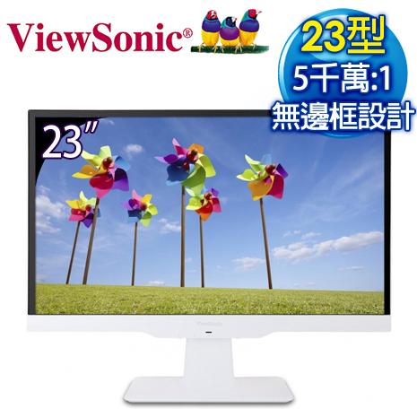 ViewSonic 優派 VX2363SMHL-W 23型 Full HD 超高畫質 LED 螢幕