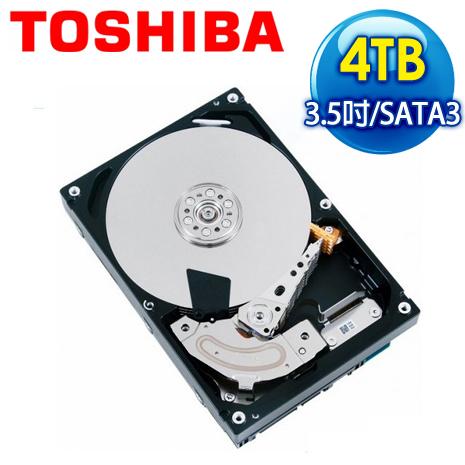 Toshiba 東芝 4TB 3.5吋 64M快取 SATA3 NAS專用硬碟(MD03ACA400V)