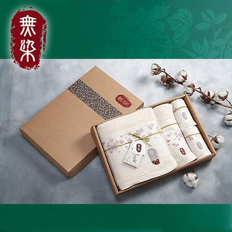 洽維無染惜福薔薇毛巾禮盒(薔薇浴巾x1+薔薇毛巾x1+薔薇方巾x2)