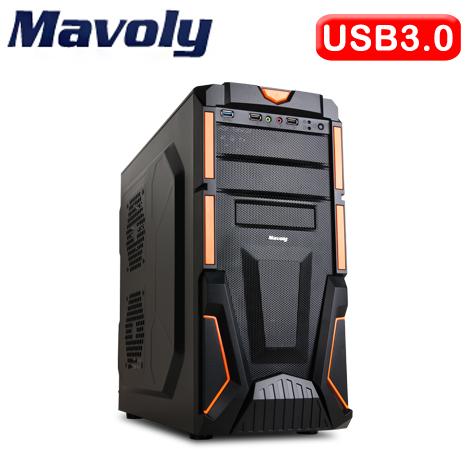 Mavoly 松聖 西瓜 SG-GT01 USB3.0 黑橘2大 電腦機殼
