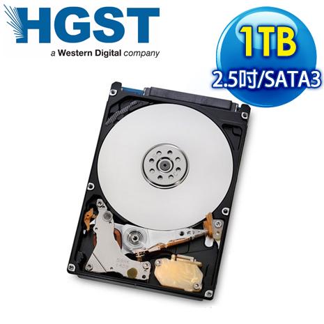 HGST 1TB 2.5吋 7200轉 32M快取 SATA3 9.5mm 硬碟(H2IK10003272SA)