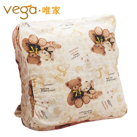 Vega唯家 奈米遠紅外線兒童睡袋(米白小熊款)