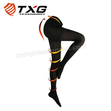 【TXG】女用減壓褲襪-進階型(黑/S-XL)