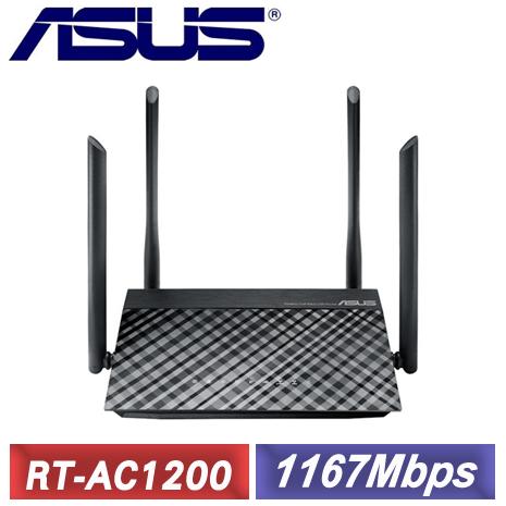 ASUS 華碩 RT-AC1200 無線分享器-3C電腦週邊-myfone購物