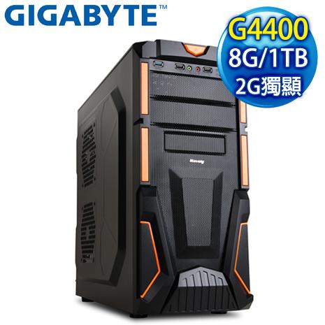 技嘉 H110 平台【魔幻勇士】Intel Pentium G4400 8G 1TB N710 2G 超值獨顯高效能電腦-數位筆電.列印.DIY-myfone購物
