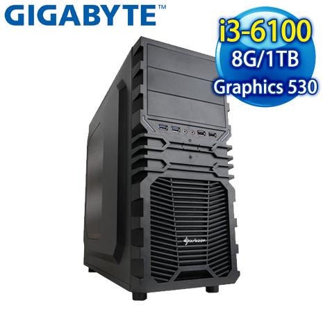 技嘉 B150 平台【庫爾貝】Intel Core i3-6100 8G 1TB 6代高效能電腦-數位筆電.列印.DIY-myfone購物