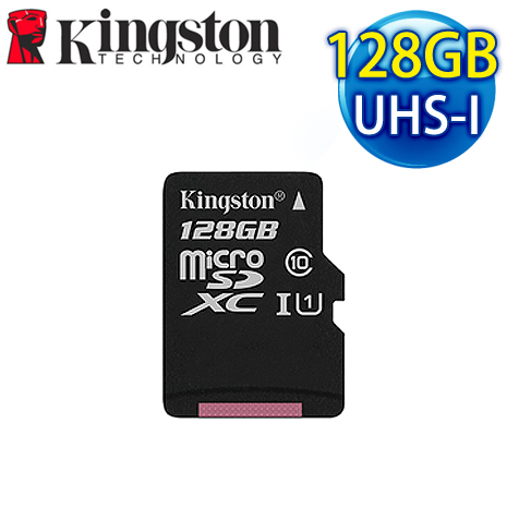 Kingston 金士頓 128G MicroSDXC UHS-I 記憶卡(SDC10G2/128GBFR)