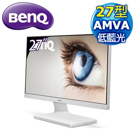 BenQ 明基 VZ2770H 27型 低藍光+不閃屏 AMVA 寬螢幕《白》