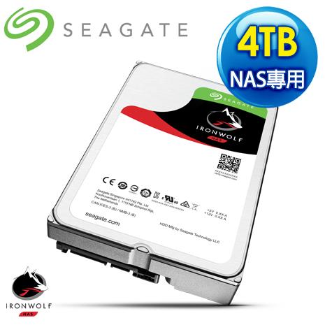 Seagate 希捷 那嘶狼 4TB 5900轉 64MB SATA3 NAS專用硬碟ST4000VN008-3Y