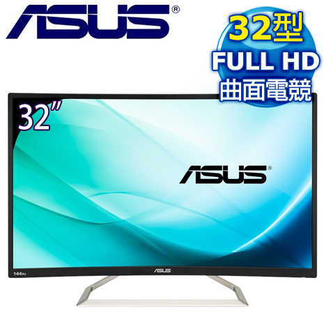 ASUS 華碩 VA326H 32型 VA曲面電競螢幕-數位筆電.列印.DIY-myfone購物