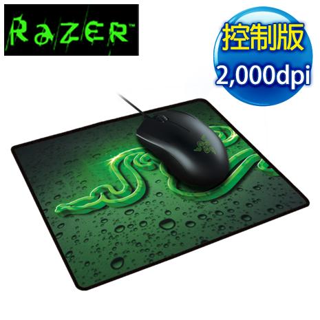 Razer 雷蛇 Abyssus 地獄狂蛇2000dpi+鼠墊(控制) 電競滑鼠