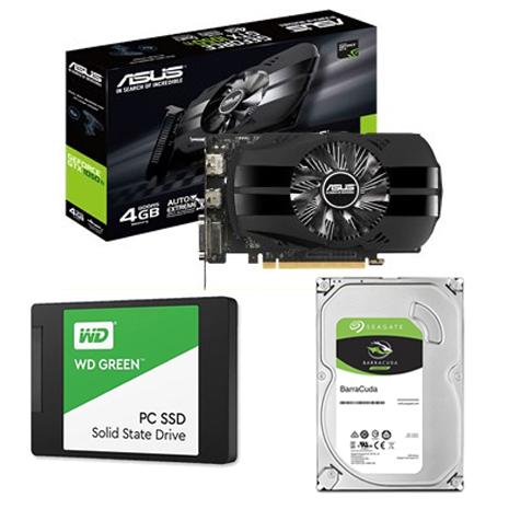 【組合價】華碩 PH-GTX1050TI-4G 顯示卡+希捷 新梭魚 1TB 3.5吋硬碟《裝機版》+WD 威騰 120G SSD《綠標》