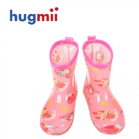 【Hugmii】滿圖造型兒童果凍雨鞋_馬車城堡