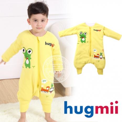 【Hugmii】兒童居家保暖防踢睡袍 青蛙