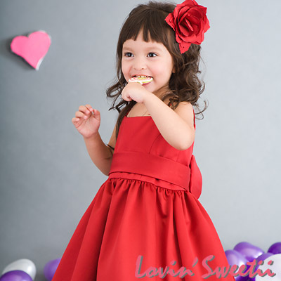 【Lovin` Sweetii】喜洋洋小公主童洋裝~紅色限量款~2Y