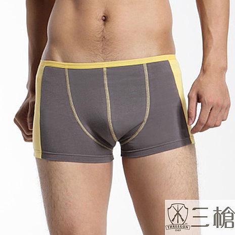 【三槍牌】時尚精典運動型男彈性平口褲~3件組(隨機取色)L