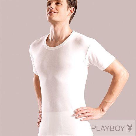 PLAY BOY 4件組時尚型男台灣製100%純棉短袖圓領衫