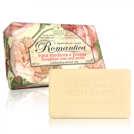 (任選)Nesti Dante 義大利手工皂-愛浪漫生活風系列-佛羅倫斯玫瑰牡丹皂(250g)